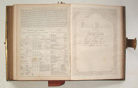 Family bible (1859) with genealogical section